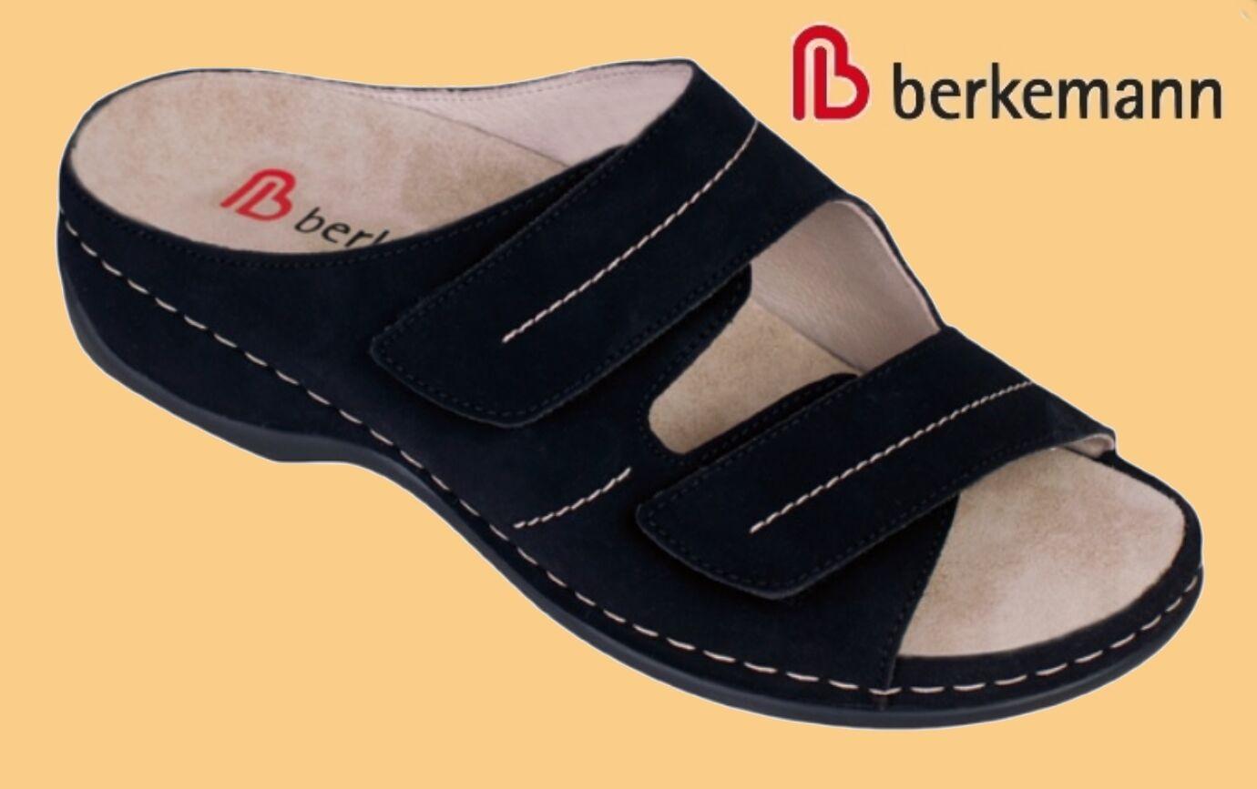 Pantoletten Berkemann Hausschuhe Pantoffeln 7 Leder WECHSELFUßBETT   7 Pantoffeln ROTUZIERT 1a9ba9