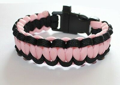 SZ/_S/_Glow in the Dark Paracord BraceletOne Color-Handcrafted USA!