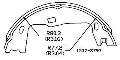 Parking Brake Shoe Rear OMNIPARTS 13077016