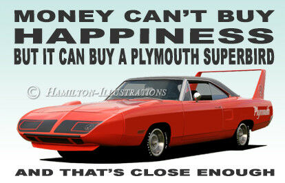 Plymouth Road Runner Superbird illustrazione Novità Frigo Calamita