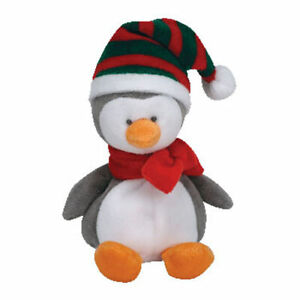 TY Jingle Beanie Baby - ICICLES the Penguin (5 inch) Rare! - MWMTs Ornament