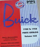 Buick 1925 Thru 1958 127 Page Catalog Of Parts We Stock