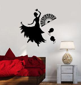Flamenco Dance Dancer Fashion Vinyl Light Switch Wall Stickers Decals