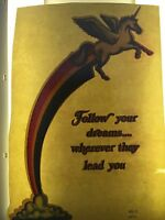 Vintage 70s Rainbow Unicorn Iron On Transfer Follow Your Dreams