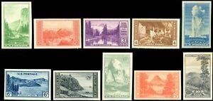 US-1935-Farley-National-Parks-Set-Stamps-756-765-10-Mint-MNH-NH-NGAI-JPF