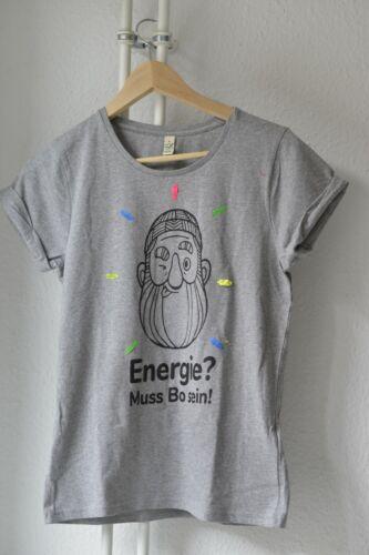 Damen Herren T-Shirt S M mit Werbung 100/% Bio Baumwolle Klimaneutral Fair