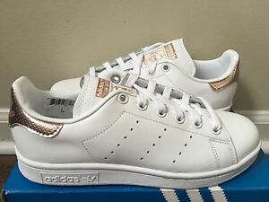 258540cf5da44 Women s Adidas Stan Smith Cobre Blanco Oro Rosa BB1434 Talla 5-11 ...