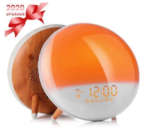 Fitfirst Wake up Licht Lichtwecker Tageslichtwecker mit 2 Alarmen// 20 Helligkei