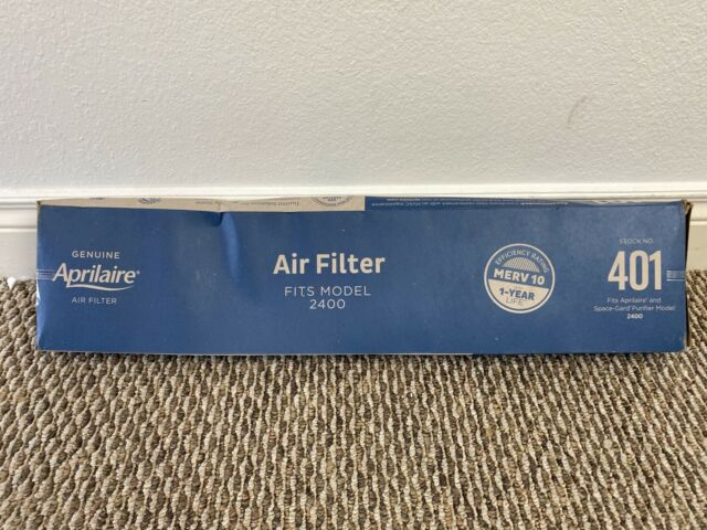 MERV 10 Aprilaire 401 Replacement Filter for Aprilaire Whole House Air Purifier Model: 2400 Pack of 10 Space Gard 2400