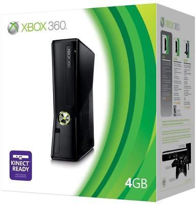 Microsoft Xbox 360 S Launch Edition 4GB Black Console FAST ...