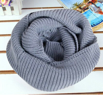 Soft Women Winter Warm Infinity 2Circle Knit Cowl Neck Long Scarf Shawl Fashion