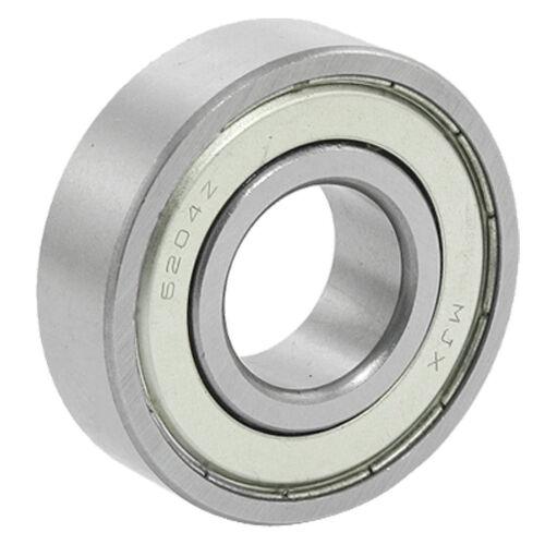 20x47x14mm 6204Z Double Metal Shielded Wheel Axle Ball Bearing LW