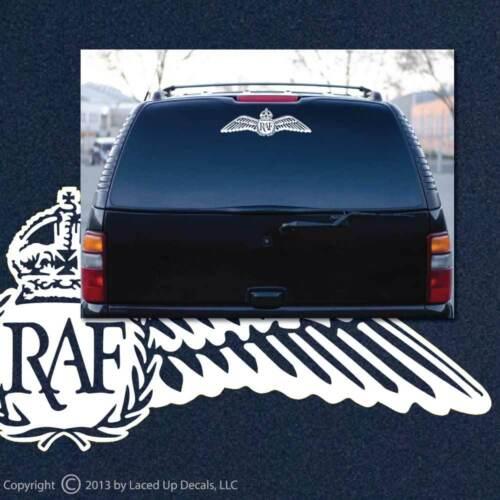Royal Air Force Pilot Wings Vinyl Decal RAF,aerial warfare force,WWII,British,lg