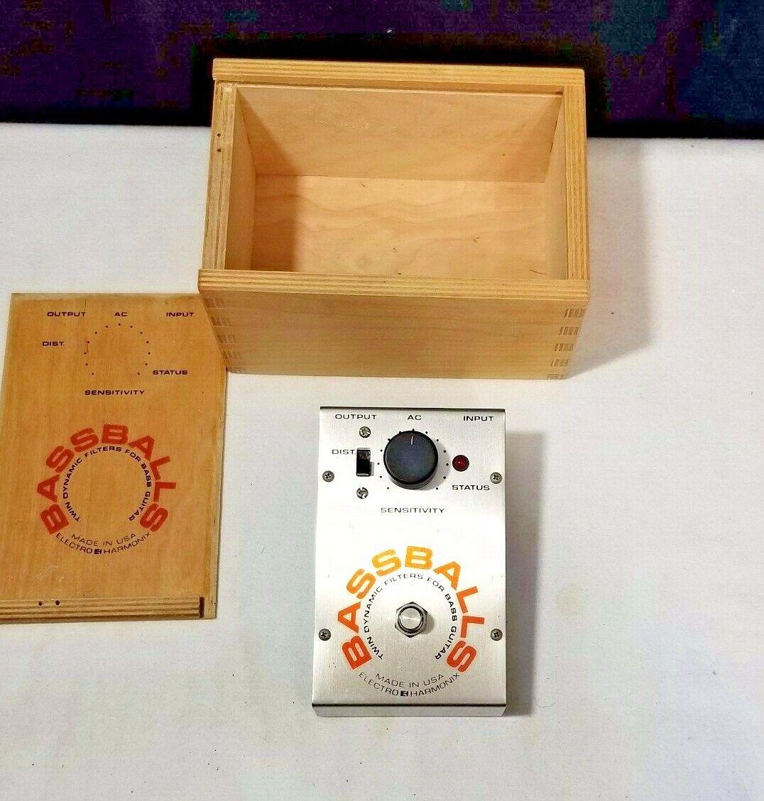 Vintage Electro-Harmonix Bass Balls Dynamic Filter Effect Pedal ehx Original Box