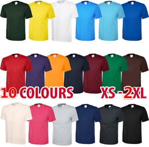 Mens-Casual-Short-Sleeve-Cotton-Tee-Crewneck-Top-Undershirt-Summer-T-Shirt-Men