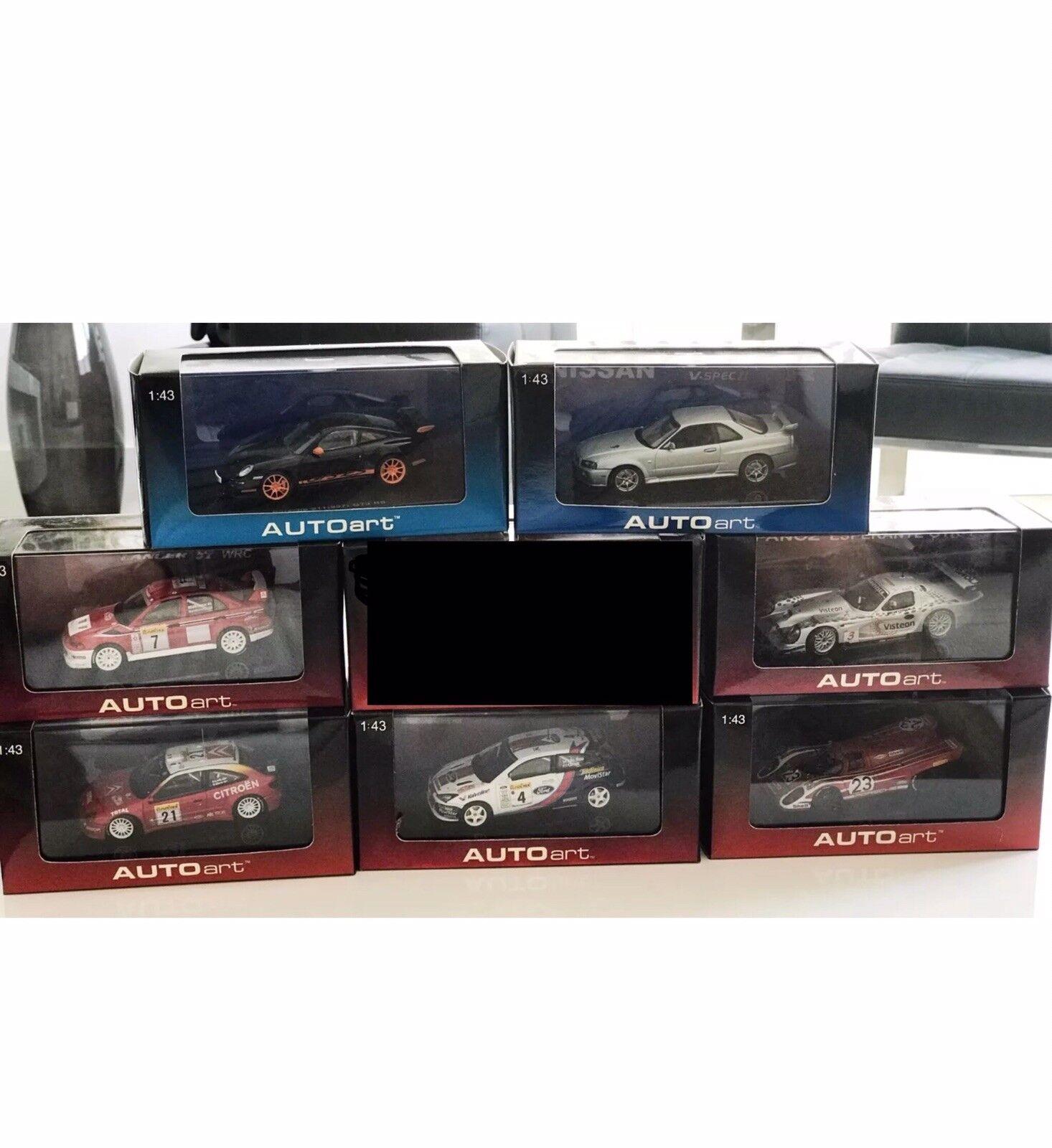 AUTOart - 1 43 Models NIB Mitsubishi Subaru Porsche Citroen Ford Panoz Nissan