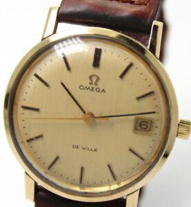 Dettagli su Orologio d'epoca Omega De Ville in oro meccanico carica manuale perfetto +++