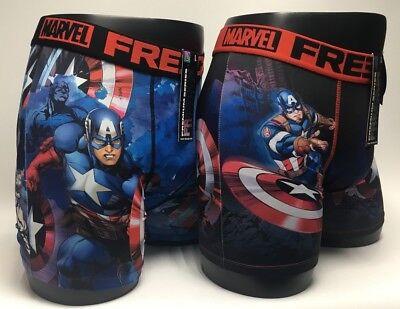 FREEGUN B/óxer para Hombre Marvel Avengers Captain America