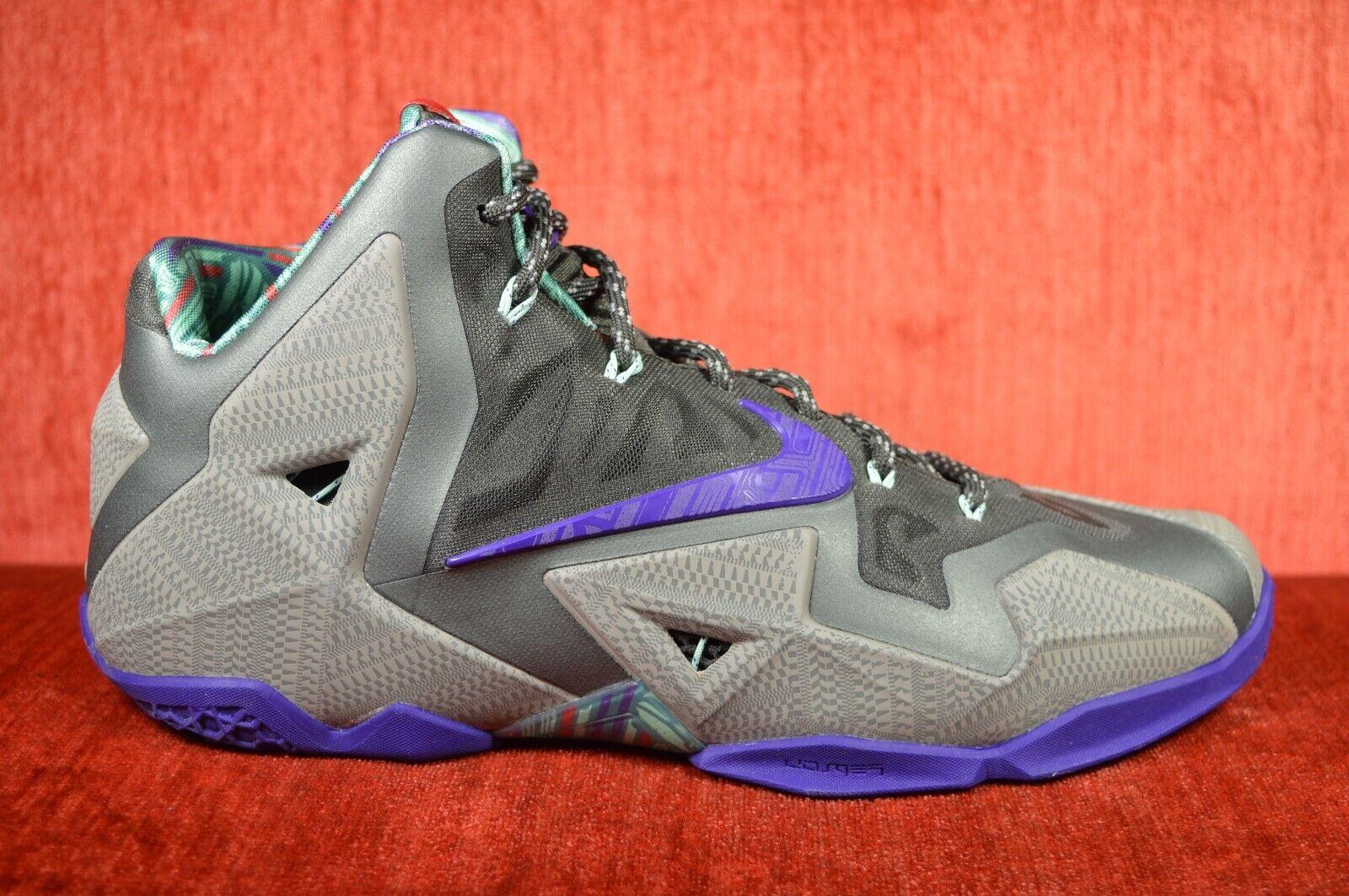 WORN TWICE Nike Lebron XI Terracotta  Guerriero Grigio viola 6175 -005 Dimensioni 11  prendiamo i clienti come nostro dio