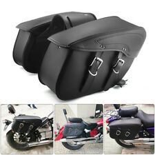 PU Leather Motorcycle Saddlebag Luggage Saddle Bags For Touring Sportster Dyna