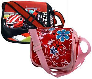 Umhaengetasche-KindergartenTasche-Kindergartentasche-Auto-Blumen