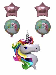 Aex Auto Gonflant Forme De 5 Ballons Bunting Film (licorne Rose)-afficher Le Titre D'origine Une Gamme ComplèTe De SpéCifications