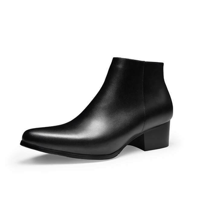 Mode Discount Stiefel Dick Absatz Spitz Herren Schuhe