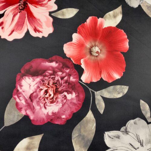 FS368 Rojo Grande Flor Floral Print tramo Jersey De Alta Calidad En Tela Buceo