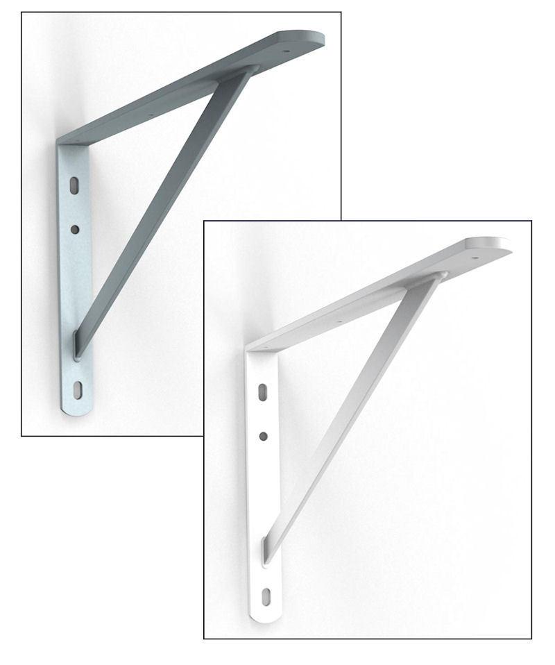 Schwerlastträger Schwerlastkonsole Stegkonsole Stahl 2 Farben 3 Größen für Regal  | Verschiedene Stile
