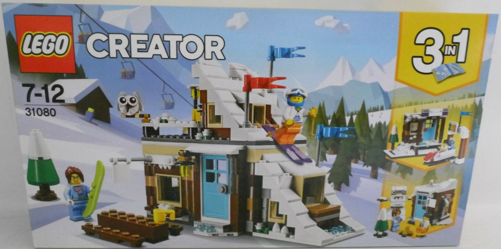 NEU LEGO® CREATOR 31080 Modulares Wintersportparadies 3 in 1 OVP