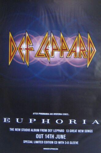 "40x60"" HUGE SUBWAY POSTER~Def Leppard 1999 Euphoria After Pyromania+Hysteria NOS"