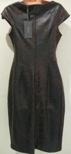 New Alexon Chocolate leather look tight Dress shift Gown Diff sizes-£110.00