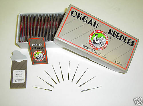 50 90//14 SHARP ORGAN TITANIUM FLAT SHANK 15X1 HAX1 HOME SEWING MACHINE NEEDLES