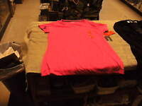 Bcg Tru-wick Semi Fitted Pink Glow Womens Training V Neck Tee Shirt Size M