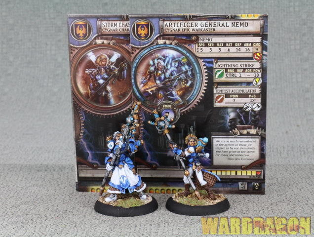 WDS pianted Cygnar Artificer General Nemo&Storm Chaser Adept Caitlin Finch f80