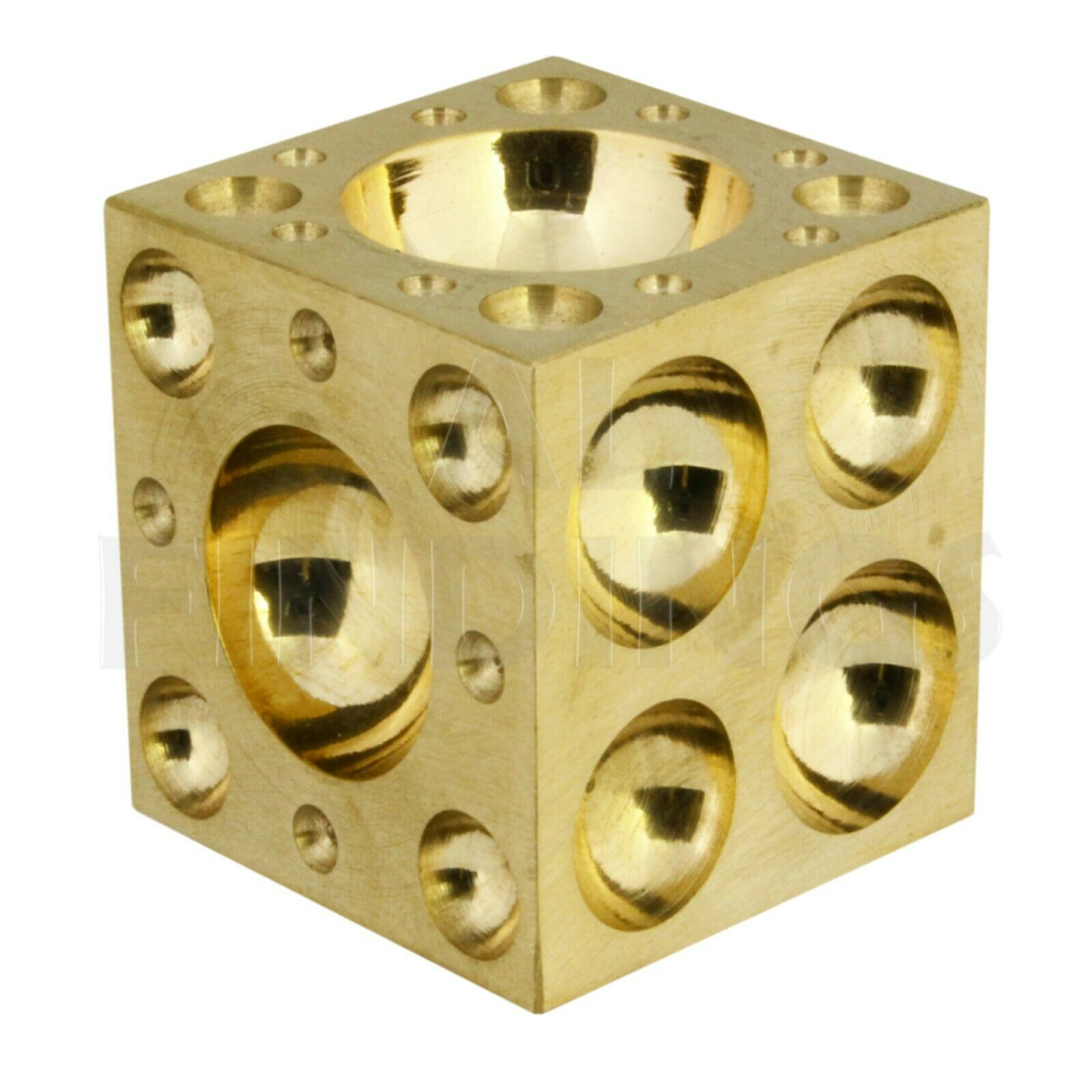 "Proops 2/"" 50mm Jewellers Solid Brass Doming Dapping Forming Block M0034"