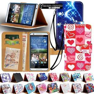 New-Leather-Stand-Flip-Wallet-Cover-Phone-Case-For-Various-HTC-Mobile-Strap