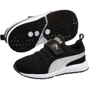 Puma-Carson-Runner-V-Trainers-Shoes-Sneakers-Infant-Toddler-Size-3-4-UK-Black