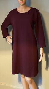 Monki-Femme-Longueur-Genou-Shift-Robe-Avec-Stretch-Taille-M-Bordeaux-BNWT