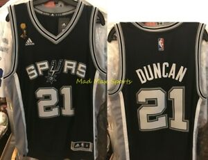 new product 0d11d 9f0c6 Details about TIM DUNCAN San Antonio SPURS Adidas 2007 NBA FINALS Throwback  SWINGMAN Jersey