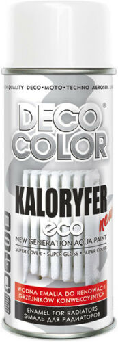 DECOCOLOR-ECO-RADIATOR-SPRAY-PAINT-WATER-BASED-ENAMEL-HEATERS-PIPES-GLOSS-WHITE