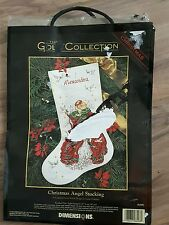 Dimensions GOLD COLLECTION CHRISTMAS ANGEL STOCKING,Cross Stitch,8498,New