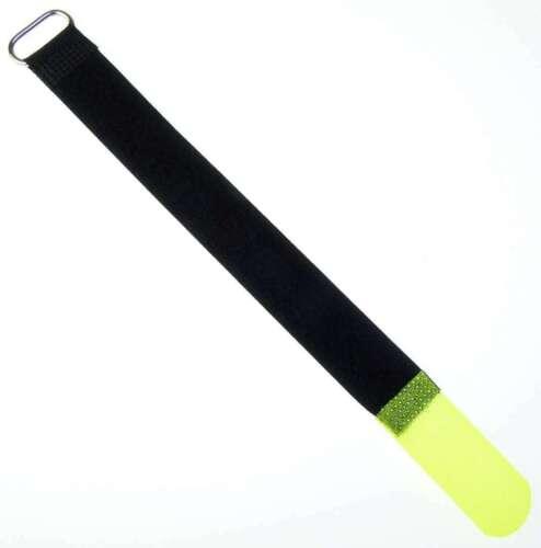 50 Fascette per cavi in velcro Cavo 20 CM x 20 MM GIALLO NEON nastro di velcro Velcro Fascette per cavi Occhione