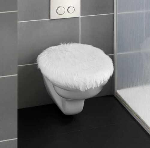 WC Sitz Toilettendeckel Klodeckel Toilettensitz Klobrille Toilettenbrille Fell