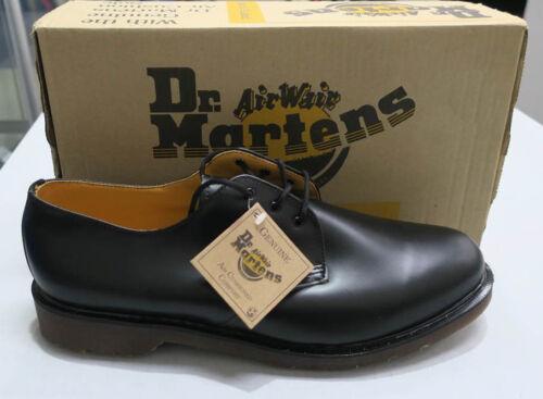 Martens taglia Dr scarpe originali Uk Dm Nero Smooth stringate 15 occhielli 1461 3 BwRqwd