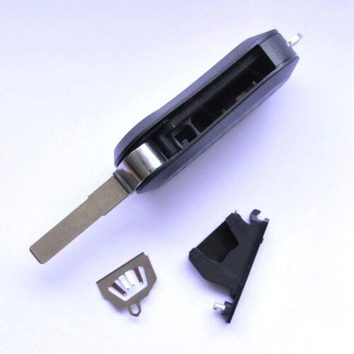 Klappschlüssel 3 Tasten Gehäuse schwarz NEU passend für Fiat 500 Panda Punto Evo