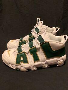 info for 374cc de9f5 Men's Nike Air More Uptempo ATL QS Atlanta White Green Gold AJ3139 ...