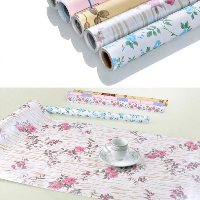 flower self-adhesive pvc wall sticker moisture proof drawer liner