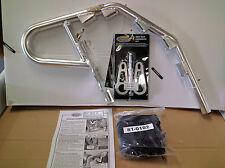 Motoworks EZ-FIT Nerf Bars Silver With Blk Webbing Yamaha YFM350X Warrior 87-04
