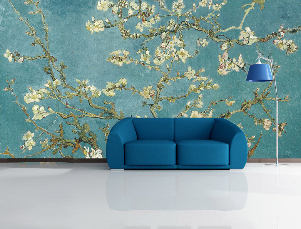 3D Flower Tree Blau 55 Wall Paper Wall Print Decal Wall Deco Indoor Mural Carly